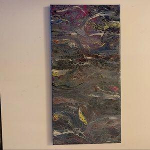 """""""Sidewalk"""" Original Pour Painting"""